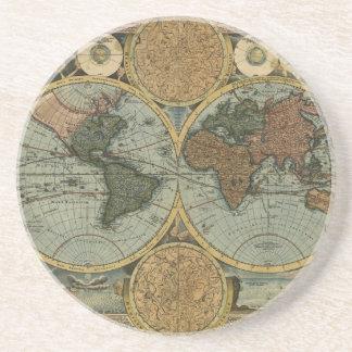 Old World Map Coaster