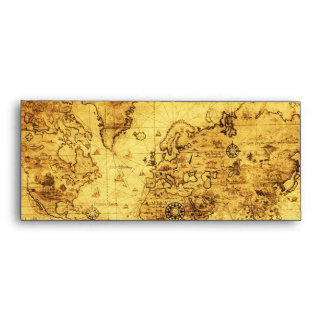 Old World Map Envelope