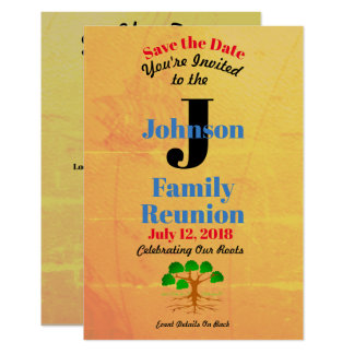 Old World Map Family Reunion - Any Name & Date - Card