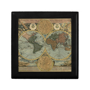 World map gift boxes keepsake boxes zazzle old world map gift box gumiabroncs Image collections