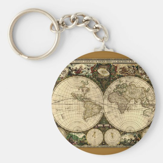 Old World Map  Gifts Keychain