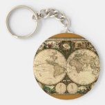 Old World Map  Gifts Keychains