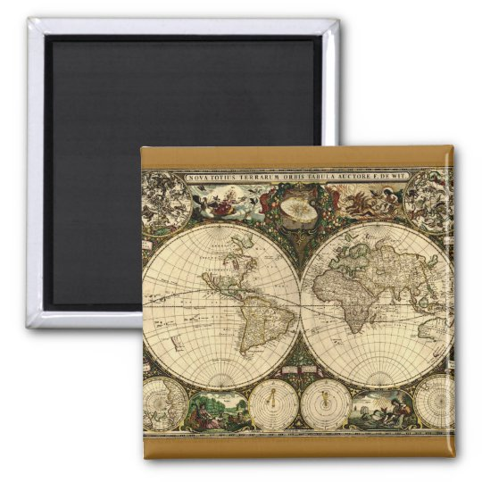 Old World Map  Gifts Magnet