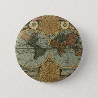 Old World Map Gifts Pinback Button