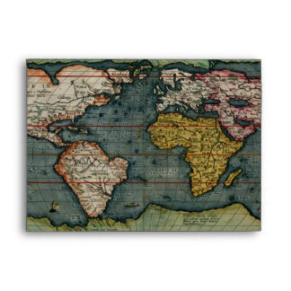 OLD WORLD MAP Greeting Card Envelope