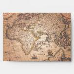 OLD WORLD MAP Greeting Card Envelope
