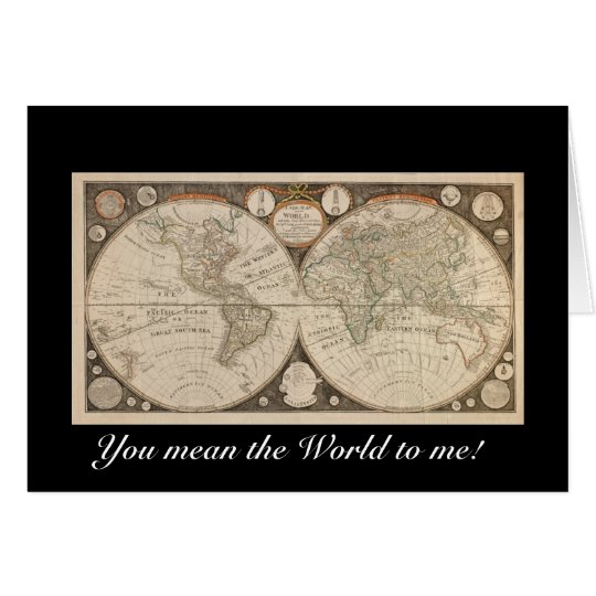 Old World Map Greeting Cards