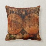 Old World Map Grunge Decor Cushion Throw Pillows