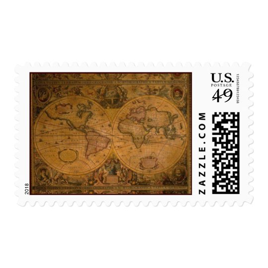 Old World Map II Postage Stamps