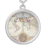 Old World Map In Double Hemispheres, 1794 Custom Jewelry