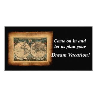 Old World Map Invitation Photo Card