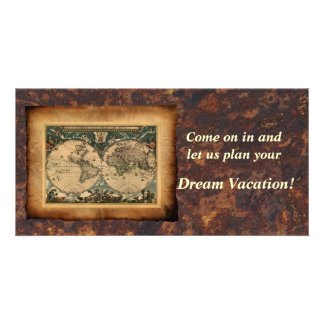 Old World Map Invitation Promotional Photo Cards