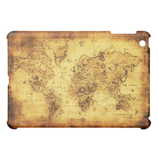 Old World Map iPad Cases