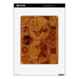 Old World Map iPad Skin