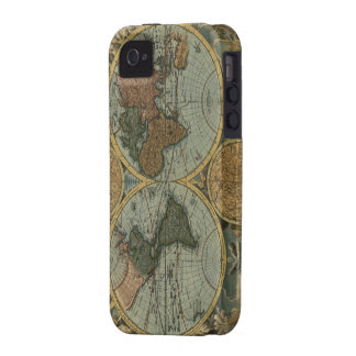 Old World Map iPhone 4 Tough Case Vibe iPhone 4 Case