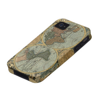 Old World Map iPhone 4 Tough Case Vibe iPhone 4 Cases