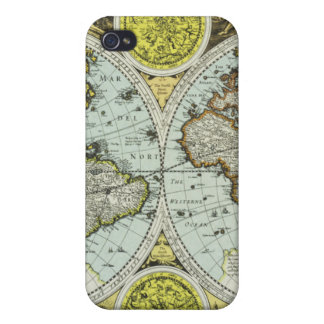Old World Map Cases For iPhone 4