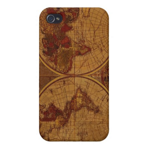 Old World Map iPhone Case Cover For iPhone 4