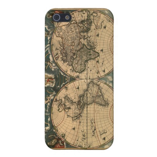 Old World Map iPhone Case iPhone 5 Cases
