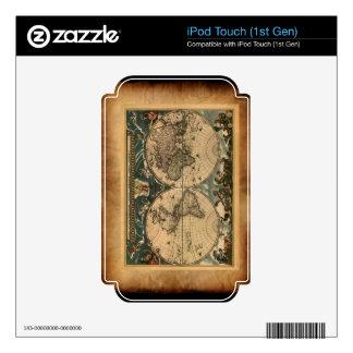 Old World Map iPod Skin