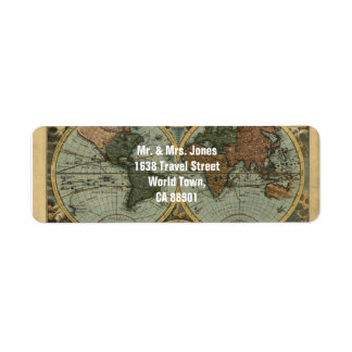 Old World Map Labels