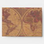 OLD WORLD MAP lighter Greeting Card Envelope