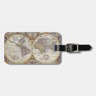 Old World Map Luggage Tag