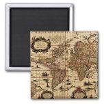 Old World Map Magnet