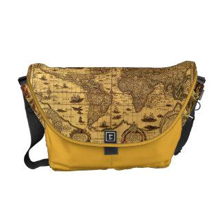 Old World Map Messenger Bag