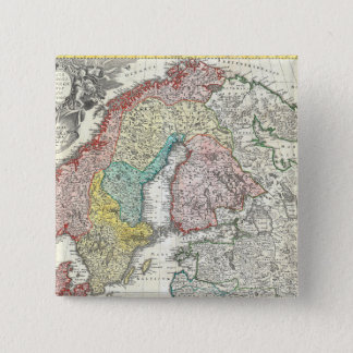 Old World Map of Northern Europe Button
