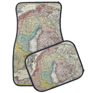 Old World Map of Northern Europe Car Mat