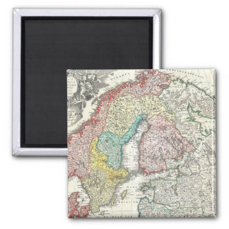 Old World Map of Northern Europe Magnet