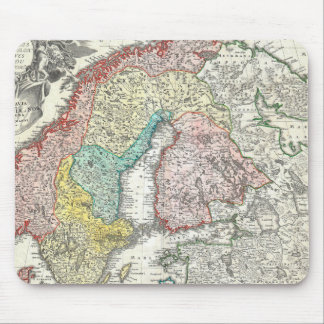 Old World Map of Northern Europe Mouse Pad