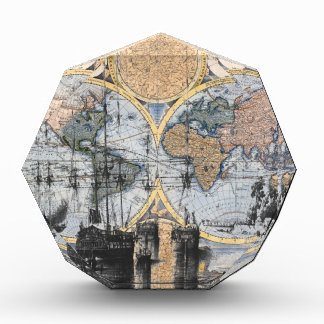 Old World Map - Out to Sea Acrylic Award