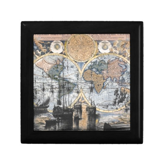 Old World Map - Out to Sea Keepsake Box