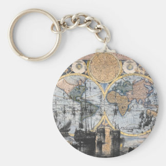Old World Map - Out to Sea Keychain