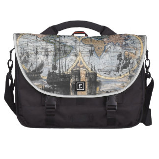 Old World Map - Out to Sea Laptop Bags
