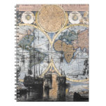 Old World Map - Out to Sea Note Books
