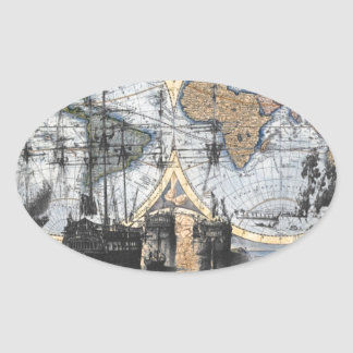 Old World Map - Out to Sea Stickers