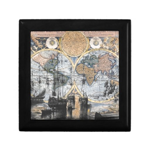 Old World Map - Out to Sea Trinket Boxes