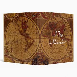 Old World Map Photo Album Vinyl Binders
