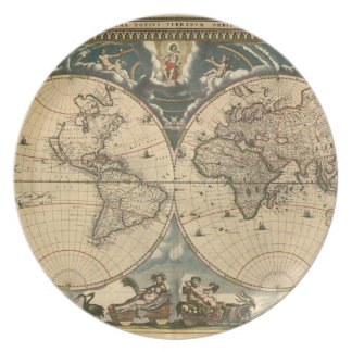 Old World Map - Plate