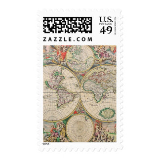 Old World Map Postage
