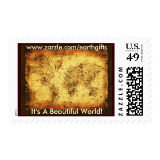 OLD WORLD MAP Postage Stamps