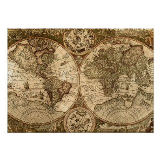 old world map posters