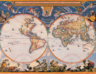 Ancient world map jigsaw puzzles zazzle old world map puzzle 1 gumiabroncs Choice Image