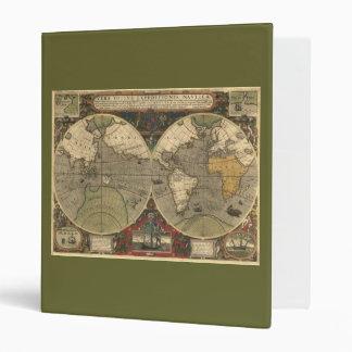 Old World Map Reversible Binder
