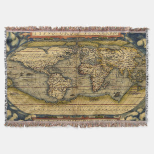 Make your own vintage world map blanket bundle up in yours today old world map rugs throw blanket gumiabroncs Choice Image