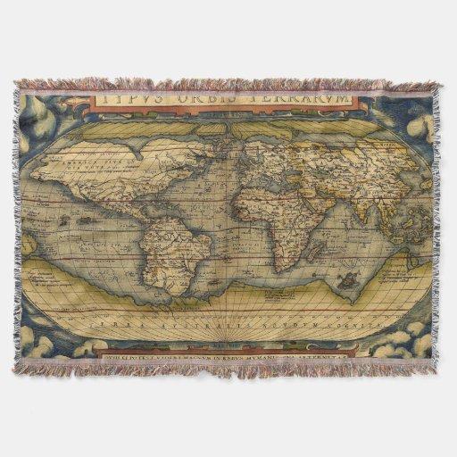 World Map Throw Rug