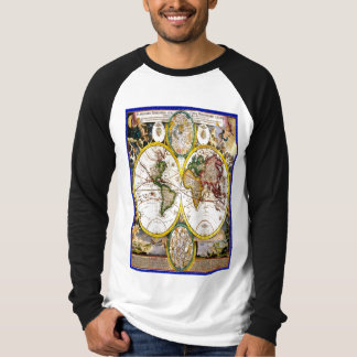 Old world map shirt Global disaster